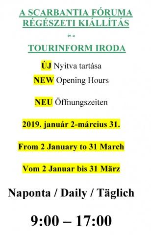 Fórum Múzeum nyitvatartása. Sopron, Szent György u. 2.